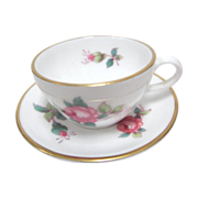 "Spode Miniature Cup & Saucer ""Rose Spray"" Bone China"