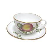 "Miniature Spode cup & Saucer Set ""Blenheim"" Peach"