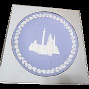 Wedgwood Blue & White Jasper 1970 Christmas Plate