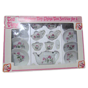 "16 Piece ""Tea Time"" Toy China Tea Service in Original Box"