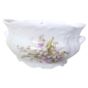 Vintage Oval Bowl with Floral Design from Germany