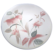 "Mikasa Cake Plate and Server ""Silk Flowers"""