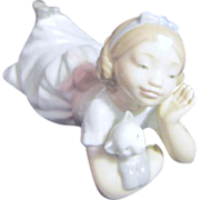 "LLadro #6987 ""Girl with Kitten"""