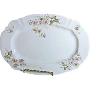 John Edwards Porcelain Platter with Pink Wild Roses Made in England