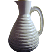 C. Miller Water Pitcher Cream with Gold Flecks