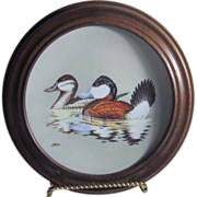 The Ruddy Ducks Federal Duck Stamp Framed Porcelain Plate