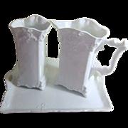 Set of 3 White Porcelain Gerald Porzellan Bavaria