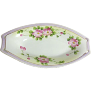 Small Hand Painted Relish Dish with Floral Design