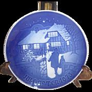Royal Copenhagen Porcelain Christmas Plate 1973 Country Christmas