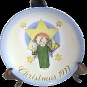 Hummel Christmas Plate 1977 Herald Angel by Sister Berta Hummel