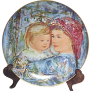 Edna Hibel Mother's Day Plate 1991