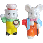 Set of Bunny and Kitty Salt & Pepper Shaker