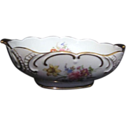 Hand Painted Flowers with Gold Trim Bowl from Limoges France