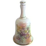 Goebel Bavarian Porcelain Bell with Gold Highlighted Flowers
