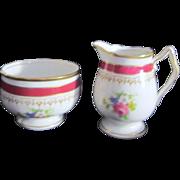 Royal Stafford Porcelain Cream & Sugar Set from England