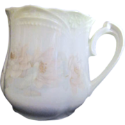German Mustache Cup with Pastel Roses