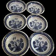 Set of 6 Japanese Double Phoenix Dessert Bowls