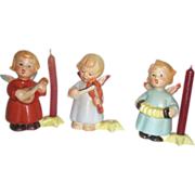 Hummel 3 Musical Angels with Small Candles