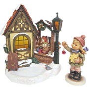 Hummel Bavarian Christmas Market Music Box with Young Girl