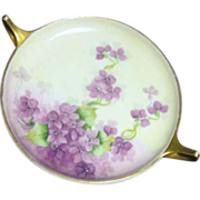 Rosenthal Selb, Bavaria Donatello Two Handled Plate with Violets