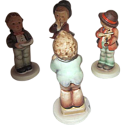 Hummel 4 Small Figurines Musical Group