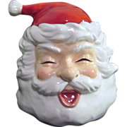 Department 56 Ceramic Santa Head with Candle Inside