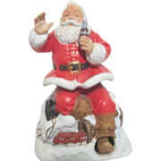 Melody in Motion Seated Christmas Santa with Coca Cola and Train
