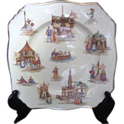 English Royal Winton Grimwades Old English Markets Plate