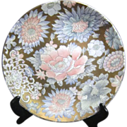 SPI Accents Collection Gilded Flowers Plate Hand Painted in Macao