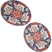Pair of Colorful Japanese Display Plates