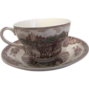 Johnson Bros. English Joker Cup and Saucer Old Britain Castles