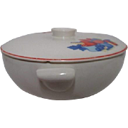 Calico Fruit Covered Casserole Bowl by Universal Potteries