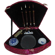 Chinese Boxed Calligraphy Set