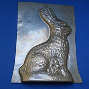 Tin Bunny Candy Mold