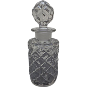 Elegant press-moulded large cologne or small decanter, c. 1800's