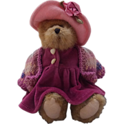 Boyds Bear Girl in Pink Hat (QVC rare)