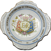 Elizabeth II Coronation 1953 /Unusual Small Porcelain Dish