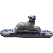 Beautiful porcelain dog paperweight, c. 1811 - Red Tag Sale Item