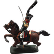 Miniature Hand Painted Russian Horse & Rider, War 1812