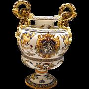 Gien White Renaissance Baluster Vase, c. 1875