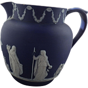 Early Wedgwood Dark Blue Jasper Ware Pitcher