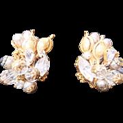 Stunning Robert Baroque Clip earrings, c. late 40's