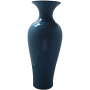 Elegant Very Tall Cased blue Glass Vase