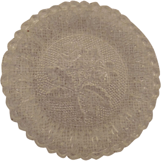 Darling Early Lacy Cup Plate with Rose and Pansy
