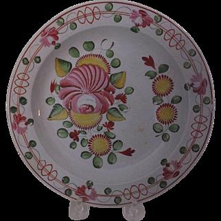 Gaudy Dutch Plate, Queen's Rose