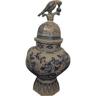 Italian Pottery Covered Urn