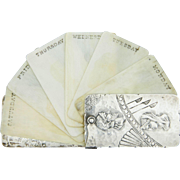 Aesthetic Sterling Silver Dance Card by George Shiebler c. 1880