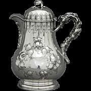 Hayden & Whilden Charleston Coin Silver Syrup Pitcher