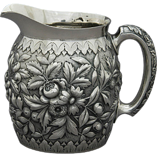 Howard & Co Sterling Silver Repousse Bar Pitcher