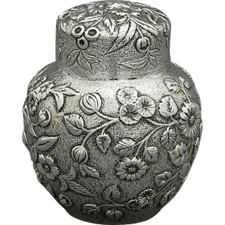 S. Kirk & Son Sterling Silver Repousse Tea Caddy
